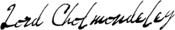 Cholmondeley Signature