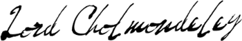 Lord Cholmondeley Signature